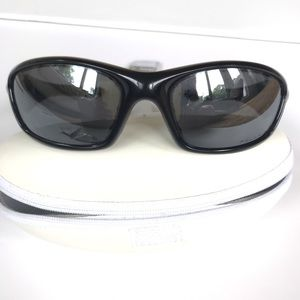 Men's Straight Jacket Rectangular Sunglasses Black